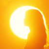 queenofhell: A profile photo of a woman's silhouette, the sun behind her. (Sunlight)