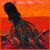 jelazakazone: black squid on a variegated red background (Default)