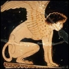 feralkiss: Depiction of a sphynx from ancient greek pottery. (sphynx)