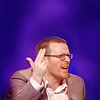 beedekka: Frankie Boyle making the 'gun fingers' sign up into the air. (Gunfingers)