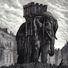 elsane: illustration of the bastille elephant (bastille elephant)
