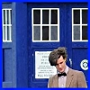 trustme: The Doctor with the TARDIS behind him (tardis)