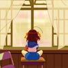 plaid_slytherin: Haruhi on a desk (Haruhi desk)