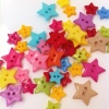 monkey5s: multicolored star-shaped buttons (stars)