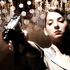 sheepfairy: tamara pointing an automatic at the camera (caprica - bang bang bang bang)