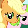 sunshine_celerystalks: Applejack looking sad (disappointed)