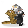 fae: Three scared little cartoon kittens (Guild Wars - Jatt Kittens)