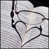 mjluvspolar: Reading glasses heart (Love Reading Icon)