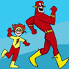 madripoor_rose: Barry and Wally from DC comics, Dark Cat fanart, being goofy (Flashes)
