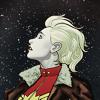goodbyebird: Captain Marvel: Carol Danvers looks up at the starry night sky. (C ∞ Captain Marvel)