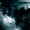 nachtmannschaften: An image of smoke and glass exploding into powder against a background of a shadowy hallway (Haunted)