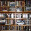 dancefloorlandmine: Photo of shelves of CDs (Music)