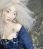 fiofiorina: a white haired fay in a dark blue dress (Default)