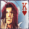 chomiji: Gojyo from the manga Saiyuki, with the heart and letter K from the King of hearts in a deck of cards (Gojyo - hearts)