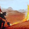 hawkethat: mage (burninating the countryside)