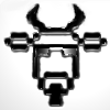 kowh: Cow with goatee pixelish art (cow, shades)