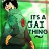 proudgreenauror: (33: it's a Gai thing~, 33)