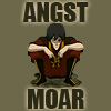 esmenet: Zuko crouching, arms on his knees (Text: angst moar) (angst moar)