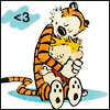 grey_gazania: calvin and hobbs hugging with a heart in the upper left corner (ask me and I will play)