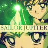 anaraine: A crop of Sailor Jupiter, surrounded by glittering green stars. ([pgsm] sailor jupiter)