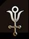 kate_nepveu: alchemical symbol for antimony (Gunnerkrigg Court)
