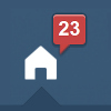 kickair8p: a tumblr dash icon showing 23 new posts (tumblr23ErisX100)