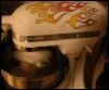 camwyn: A white KitchenAid stand mixer with flame decals on it. FOR GREAT AWESOME. (kitchenaid)
