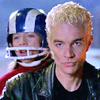 next_to_normal: Spike and Dawn on the motorcycle, Dawn wearing a football helmet (Spike/Dawn)