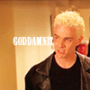 next_to_normal: Spike looking frustrated; text: goddammit (goddammit)
