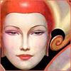 nightdog_barks: Retro comic illustration of a woman wearing a futuristic space helmet by W.T. Benda (Rocket Woman)