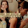 next_to_normal: Cordy praying, Willow watching; text: ask for some aspirin (Ask for some aspirin)