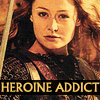 next_to_normal: Eowyn in battle, text: heroine addict (heroine addict)