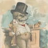 sophiap: skeleton in victorian garb at a bar with cigar and drink (adult tasty beverages)
