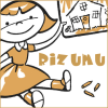 thesynchronomes: An illustration of a young girl holding a drawn image of a house, with text reading 'Rizumu'. (Rizumu)