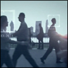 meme_of_interest: Blue/gray silhouettes of people walking. (Meme icon)