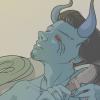 loki_of_sassgaard: Fanart of Loki in Jötunn form (Jötunn Loki)