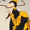loki_of_sassgaard: Fanart of the Monarch sneering at someone (Monarch)