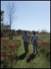 elsbethrenee: Photo of my partner and I walking through a field at Indian Cave State Park Fall 2007 (Default)