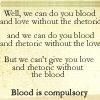 hildico: (Blood is compulsory)