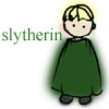 mayhap: sketchy Draco in green with text Slytherin (slytherin by __hibiscus)