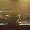 mayhap: a green teacup (tea)