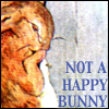 mayhap: crying Peter Rabbit with text not a happy bunny (not a happy bunny)