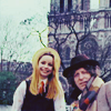 turlough: Romana II & the Doctor outside Notre Dame in Paris, Fourth Doctor adventure 'City of Death' ((dr who) city of death)