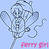 "cassowary: Botan from Yu Yu Hakusho, text ""Ferry Girl"" (Ferry Girl)"
