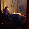red_eft: Blair Sandburg from The Sentinel studies while curled up on his bed. (perpetual student)