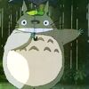 smallestweirdnumber: totoro standing in rain with umbrella (totoro)