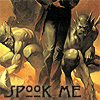 mab_browne: Icon from book cover, showing man walking with two gargoyle demon creatures in background.  Text reads 'Spook Me'. (Spook Me)