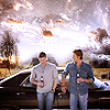 logovo: Dean, Sam, two beers and a break. (Dean and Sam)