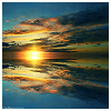 susanreads: sunset clouds, reflected in water (reflection)
