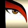 kouredios: close up of Azula wearing Kyoshi Warrior facepaint (ATLA!Azula's Kyoshi eye)